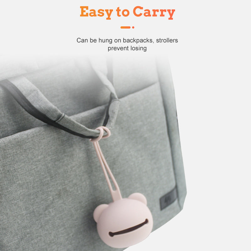 Wooden Teether Seahorse Stroller Chain Purple - MamimamiHome Baby