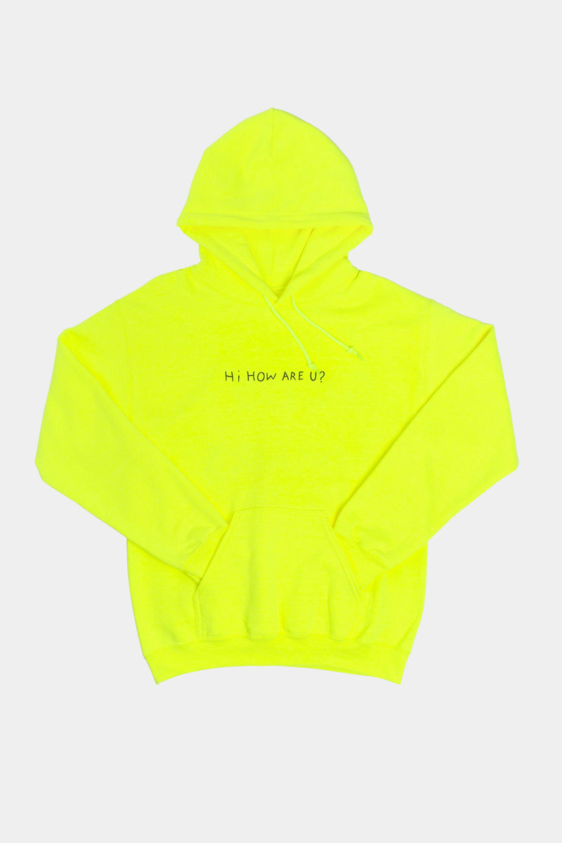 HI, HOW ARE YOU? HOODIE - NEON GREEN