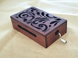 30-Note Music Box with Floral Design