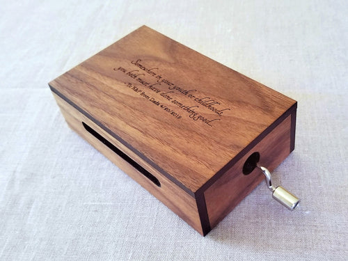 30-Note Music Box with Engraved Top