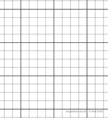 A1 ¼ Inch Grid Sheet (tube of 8 sheets)