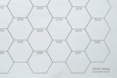 B2 20mm Numbered Hex Sheet (tube of 4 sheets)