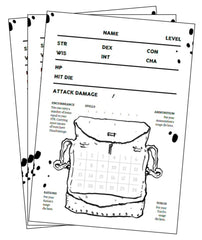 The Black Hack 1st Ed Character Sheets
