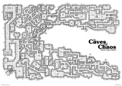 Caves of Chaos Poster Map With Numbers