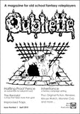 Oubliette Issue 1 Print Edition