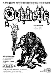 Oubliette Issue 4 Print Edition