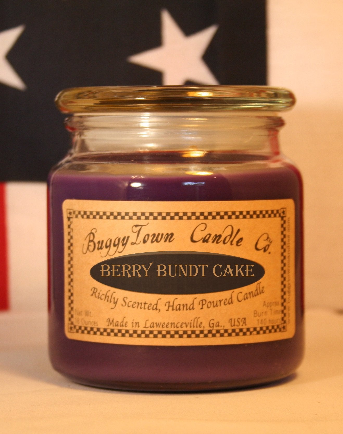 Berry Bundt Cake Candles
