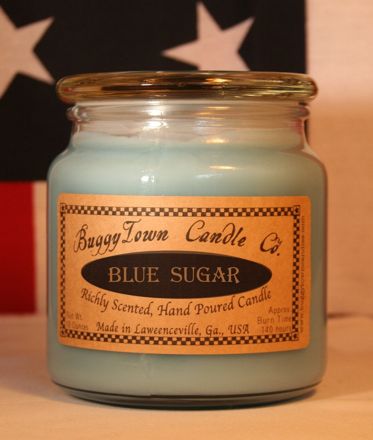 Blue Sugar type Candles