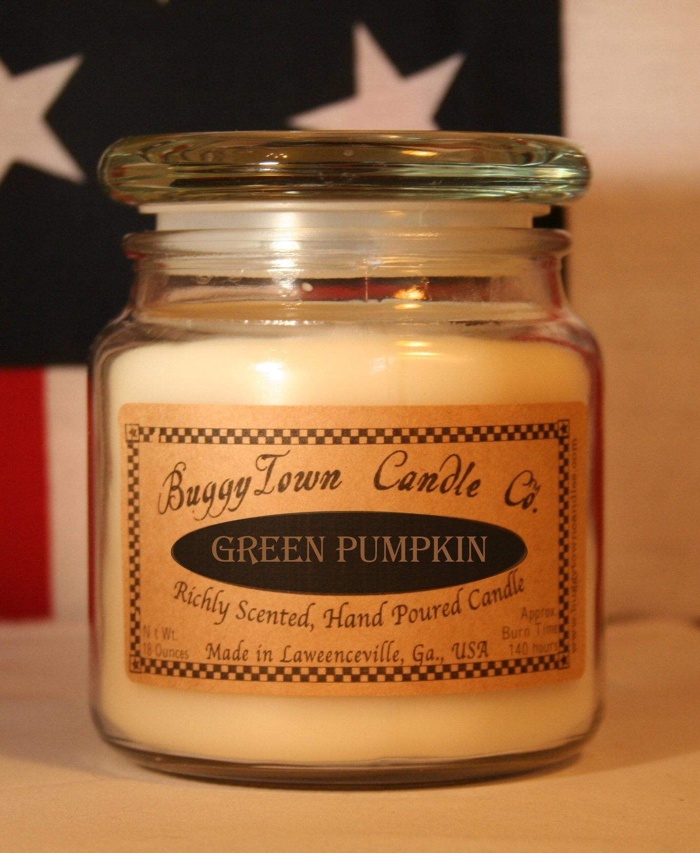 Green Pumpkin Candles