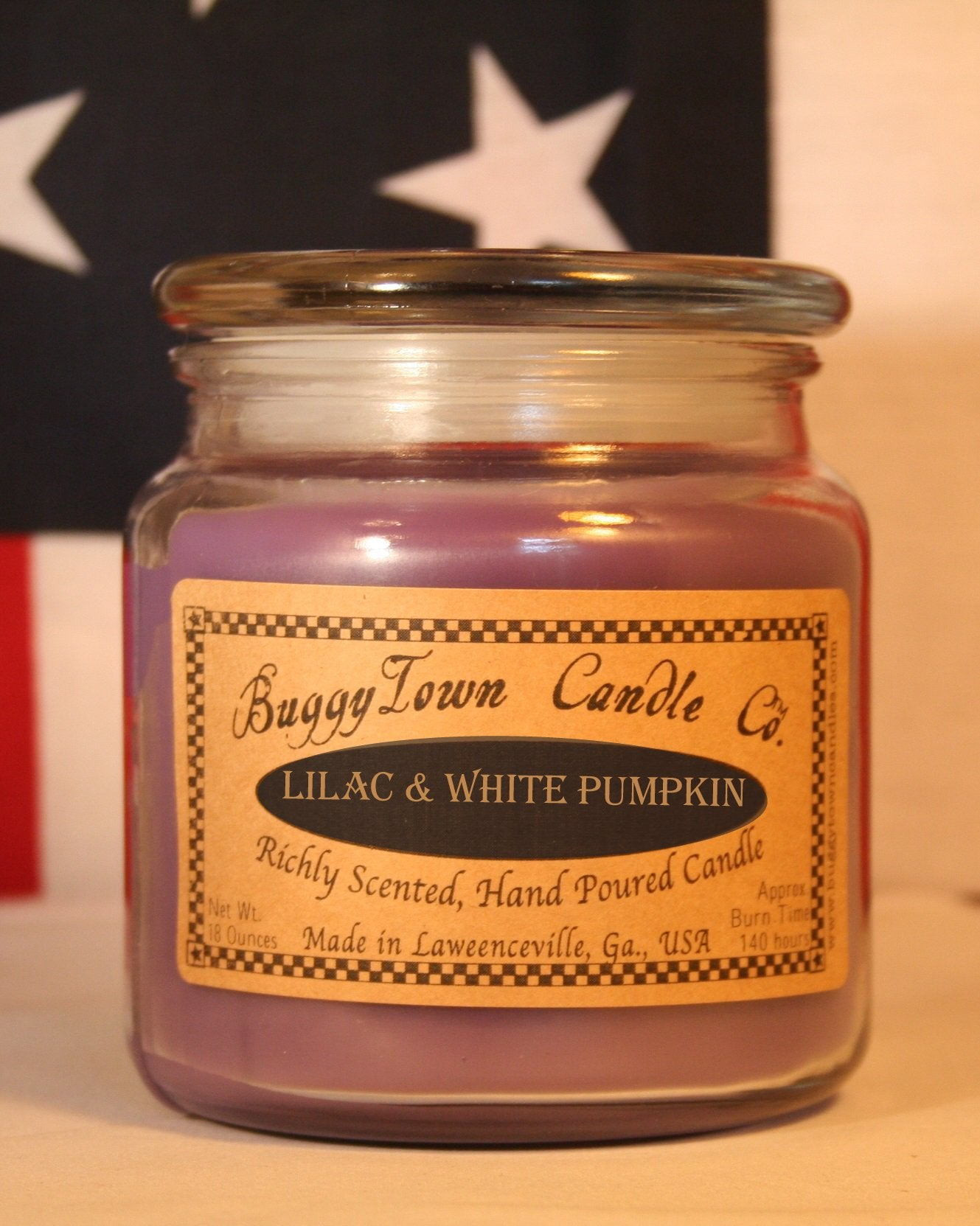 Lilac and white pumpkin Candles