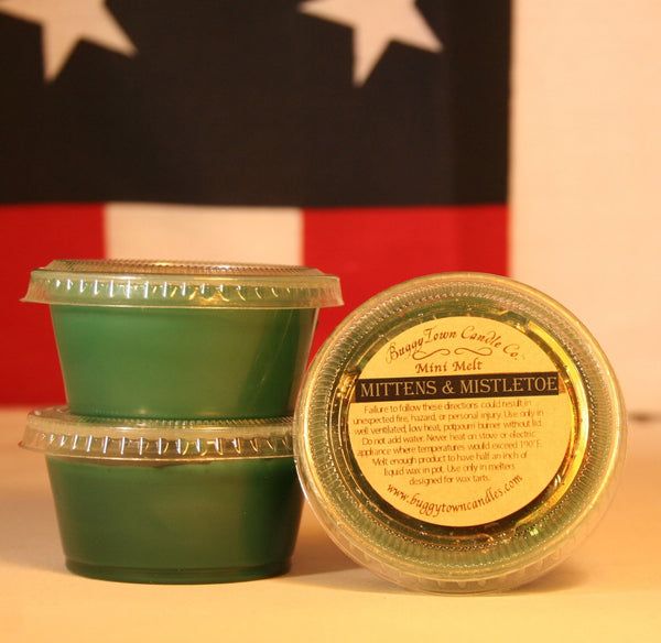 Mittens & Mistletoe Candles