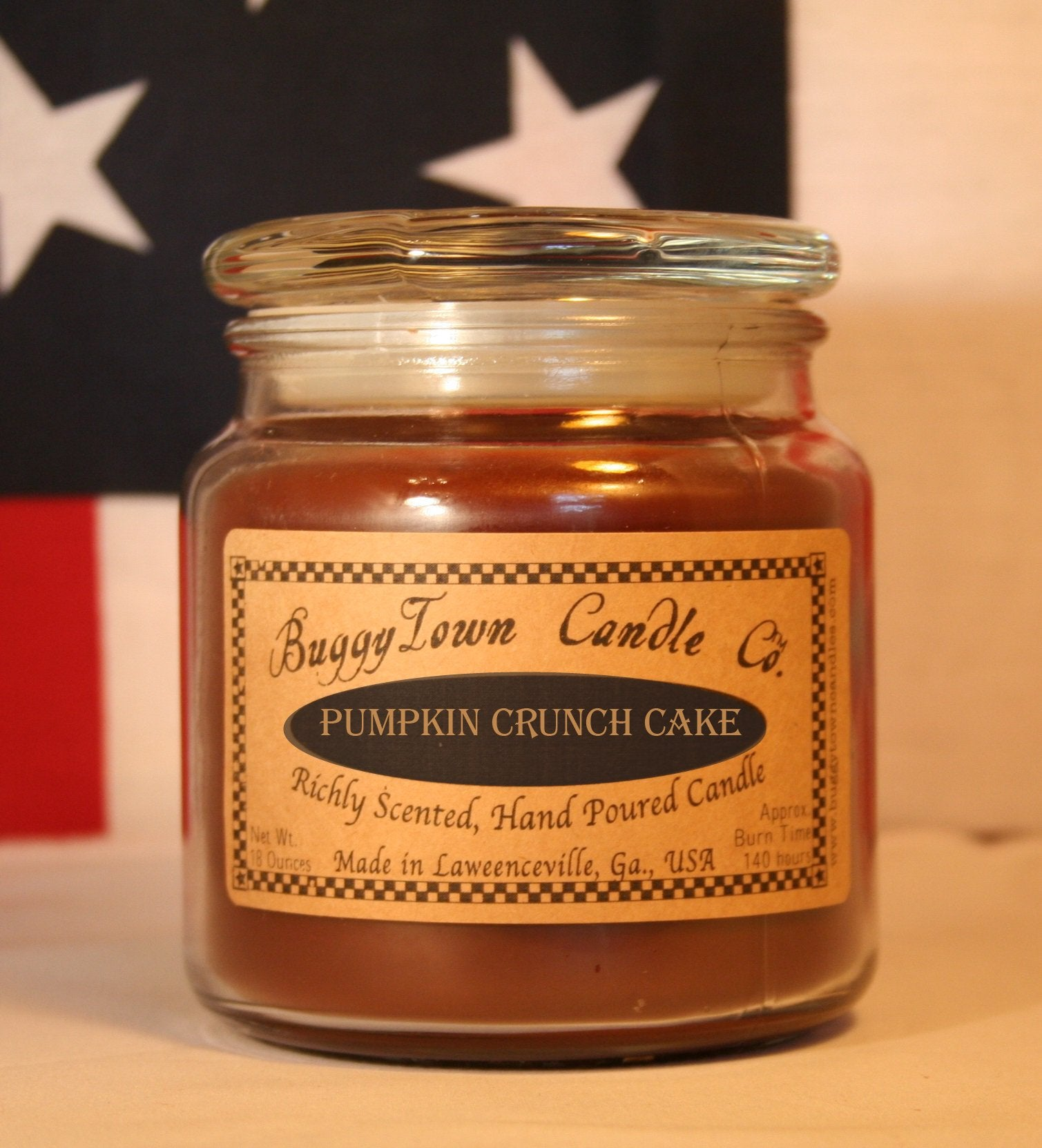 Pumpkin Crunch Cake Candles