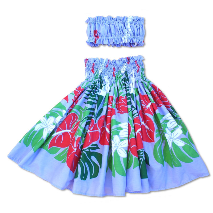 sweetie purple girl pa'u hula skirt set