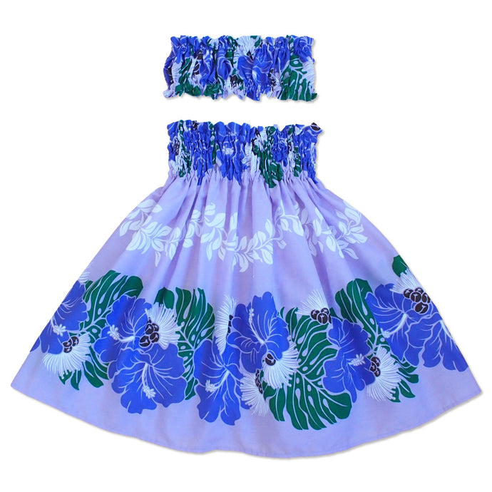 jamba purple girl pa'u hula skirt set