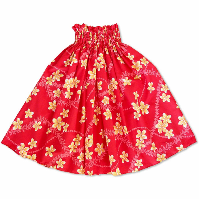 candy red single hawaiian pa'u hula skirt