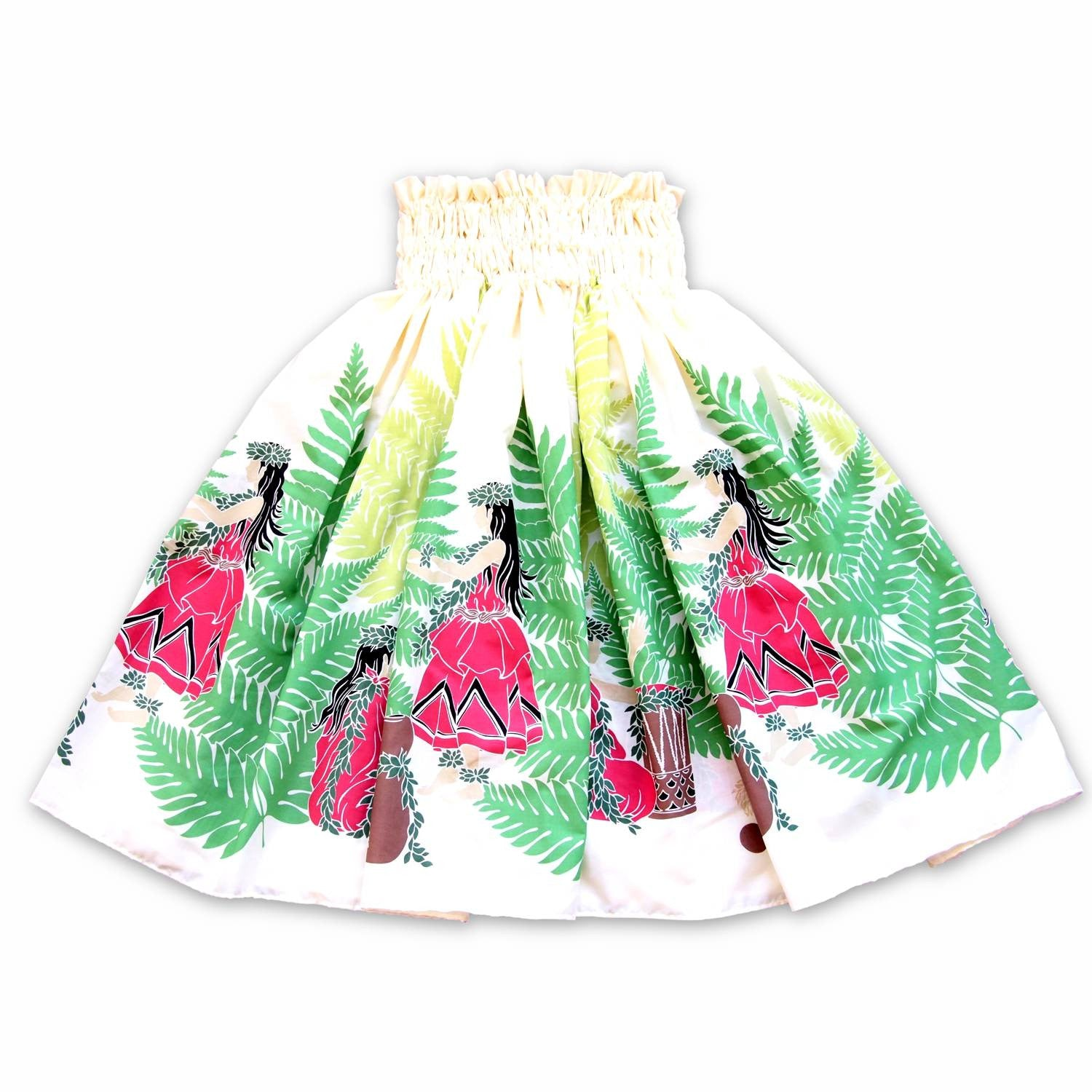 halua cream single hawaiian pa'u hula skirt