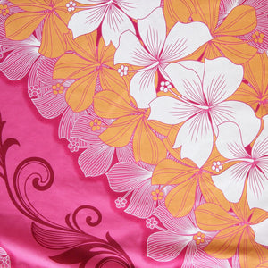 happy lei pink single hawaiian pa'u hula skirt
