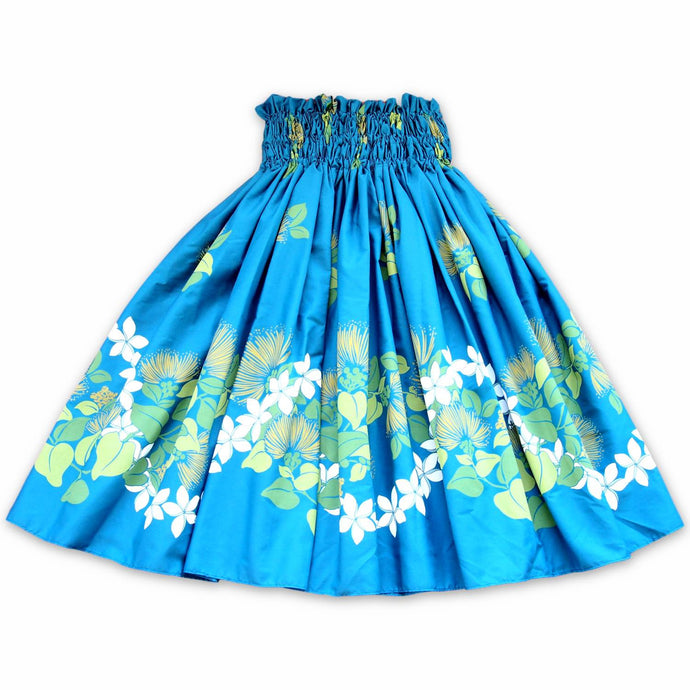ilima blue single hawaiian pa'u hula skirt