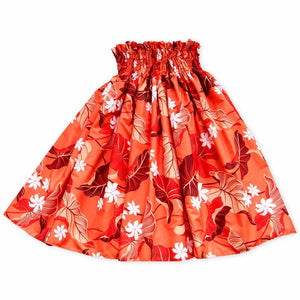 orange punch single hawaiian pa'u hula skirt