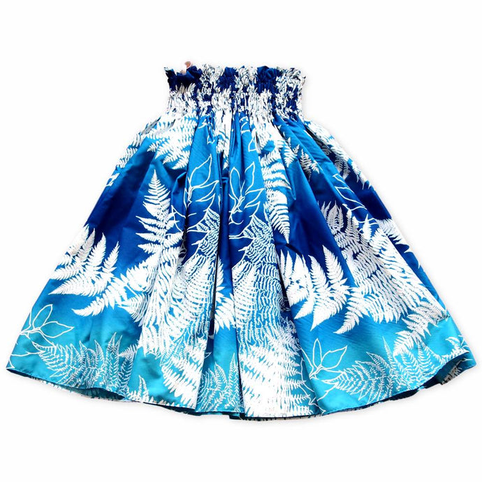 palia blue single hawaiian pa'u hula skirt