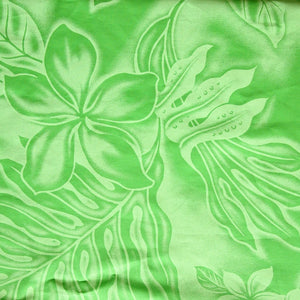 plumeria shadow green single hawaiian pa'u hula skirt