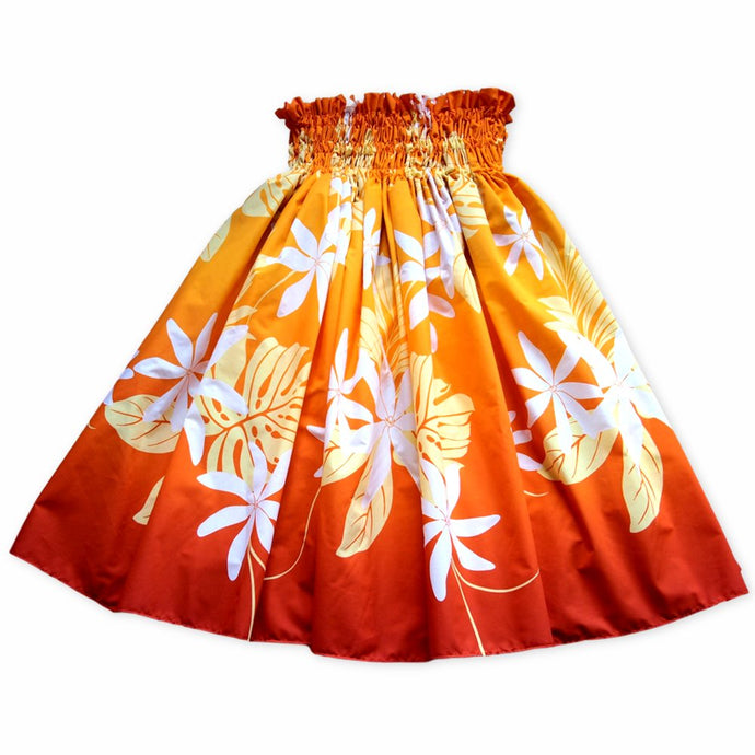 sundance orange single hawaiian pa'u hula skirt