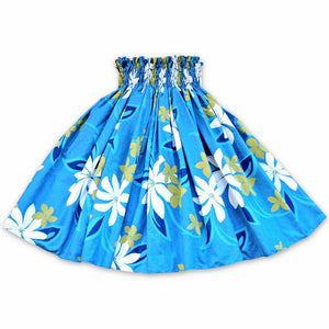 tiare blue single hawaiian pa'u hula skirt