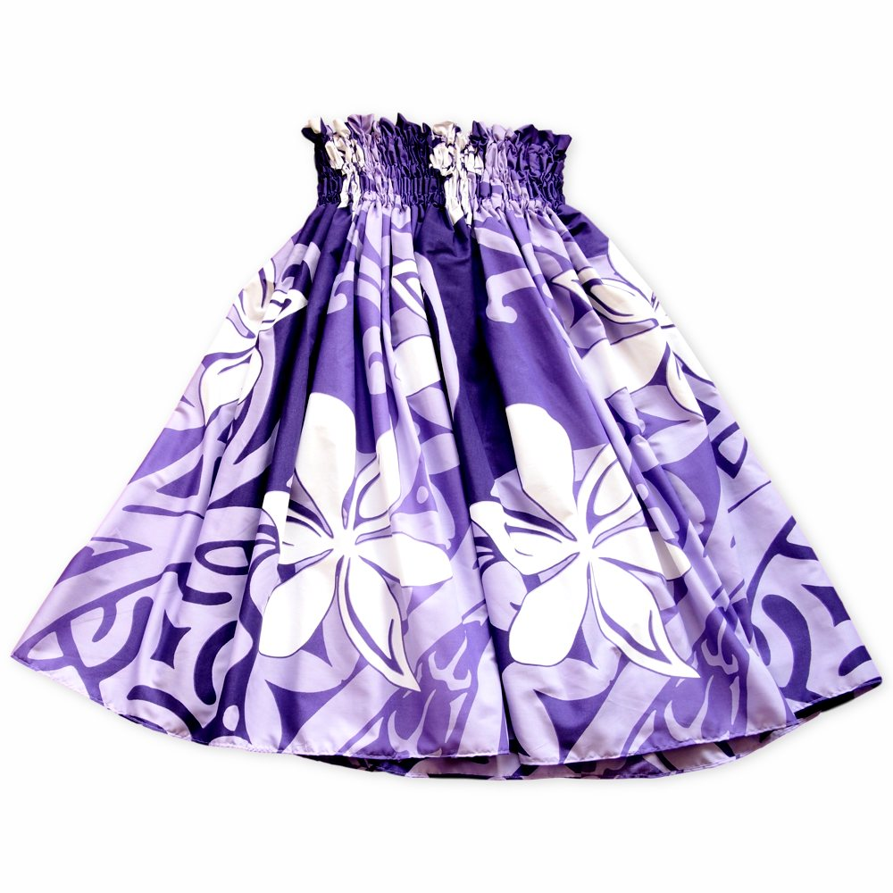 tiare swirl purple single hawaiian pa'u hula skirt