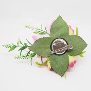 anela pink hawaiian flower hair clip