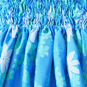 lagoon blue single hawaiian pa'u hula skirt