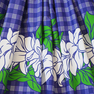palaka purple single hawaiian pa'u hula skirt