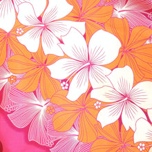 Load image into Gallery viewer, happy lei pink hawaiian traditional pa'u hula skirt