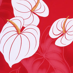 anthurium red single hawaiian pa'u hula skirt