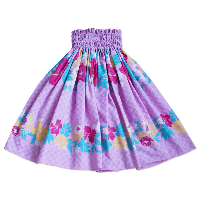 blossom lavender single hawaiian pa'u hula skirt
