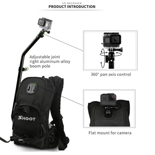 Motorcycle Bicycle Selfie Backpack for GoPro