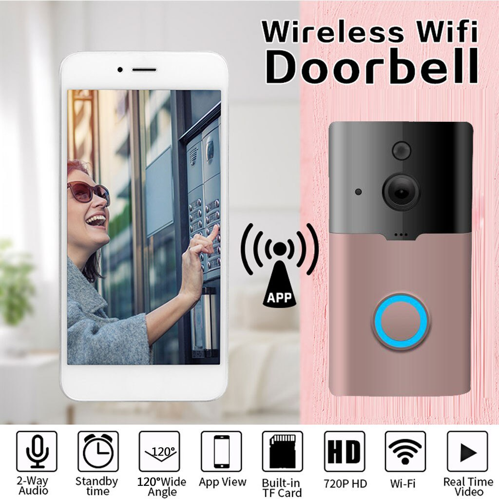 WiFi Smart Video Doorbell Camera Wireless 720P HD