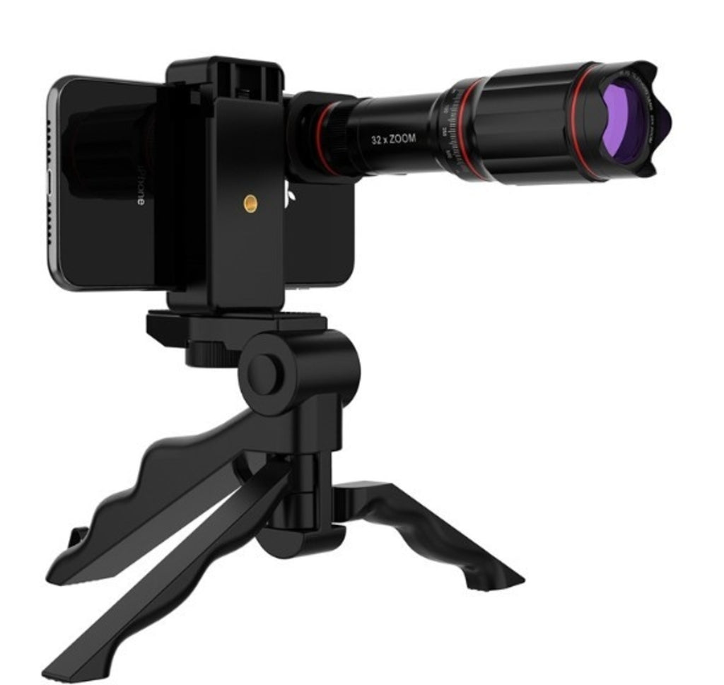 Ultra Crystal HD 32x Zoom Telescope Mobile Phone Camera Lens Set