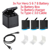 TELESIN 3 Way GoPro Battery Charger