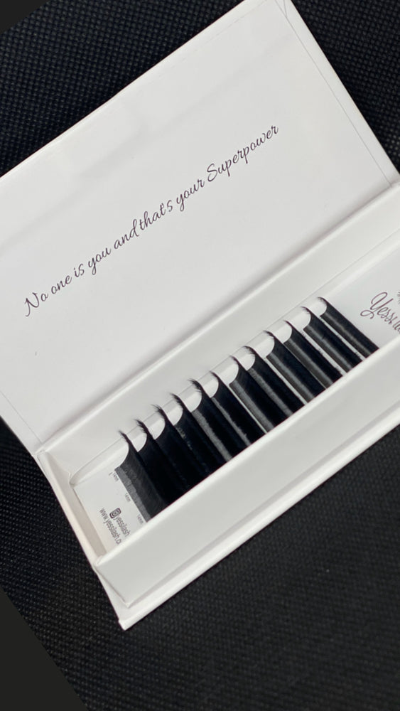 Double Layer Volume Lash Extensions Easy Fan  Lashes 0.03 D Rapid Blooming Eyelash Extensions D curl Flowering Lash Extensions Mega Volume Lash Extensions (D-0.03-8-14 MIX)