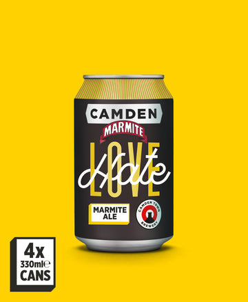 Marmite Love Hate Ale - 4 Can Pack