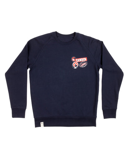Navy Women's 'Terry' Sweatshirt
