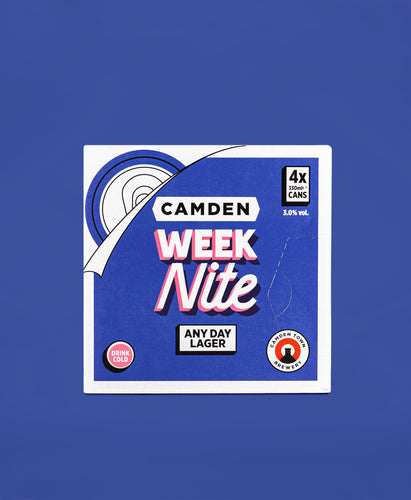 4 Can Week Nite Any Day Lager Fridgepack