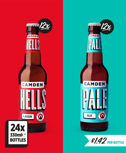 Hells Lager and Pale Ale  - 24 bottle pack