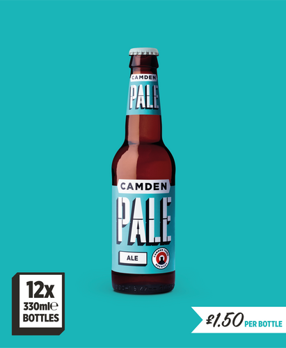 Pack of 12 pale ale bottles