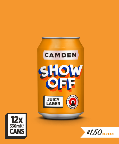 Show Off Juicy Lager - 12 Can Pack