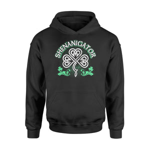 Shenanigator Irish St Patrick's Day - Standard Hoodie Apparel S / Black
