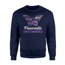 Load image into Gallery viewer, Never Ever Giving Up Hope Pancreatic Cancer - Standard Fleece Sweatshirt