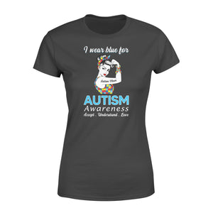 Wear Blue Support Autism Mom T Shirts Unbreakable Slogan Awareness Month - Standard Women's T-shirt