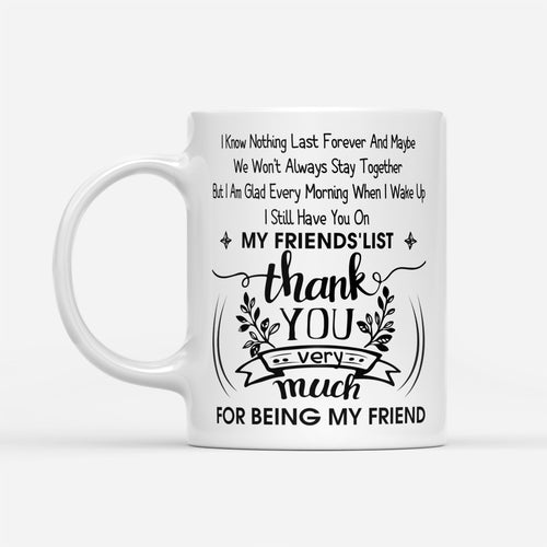 Trendy Matching Best Friends Quote Printed Mug Birthday Holidays Gift - White Mug Drinkware 11oz