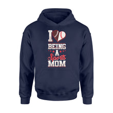 Load image into Gallery viewer, I Love Being A Sports Mom Birthday Gift - Standard Hoodie Apparel S / Navy